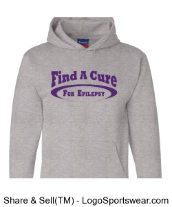 Find a Cure-Epilepsy Hoodie Design Zoom